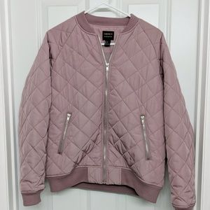 New without tags F21 Quilted Rose Bomber Sz L